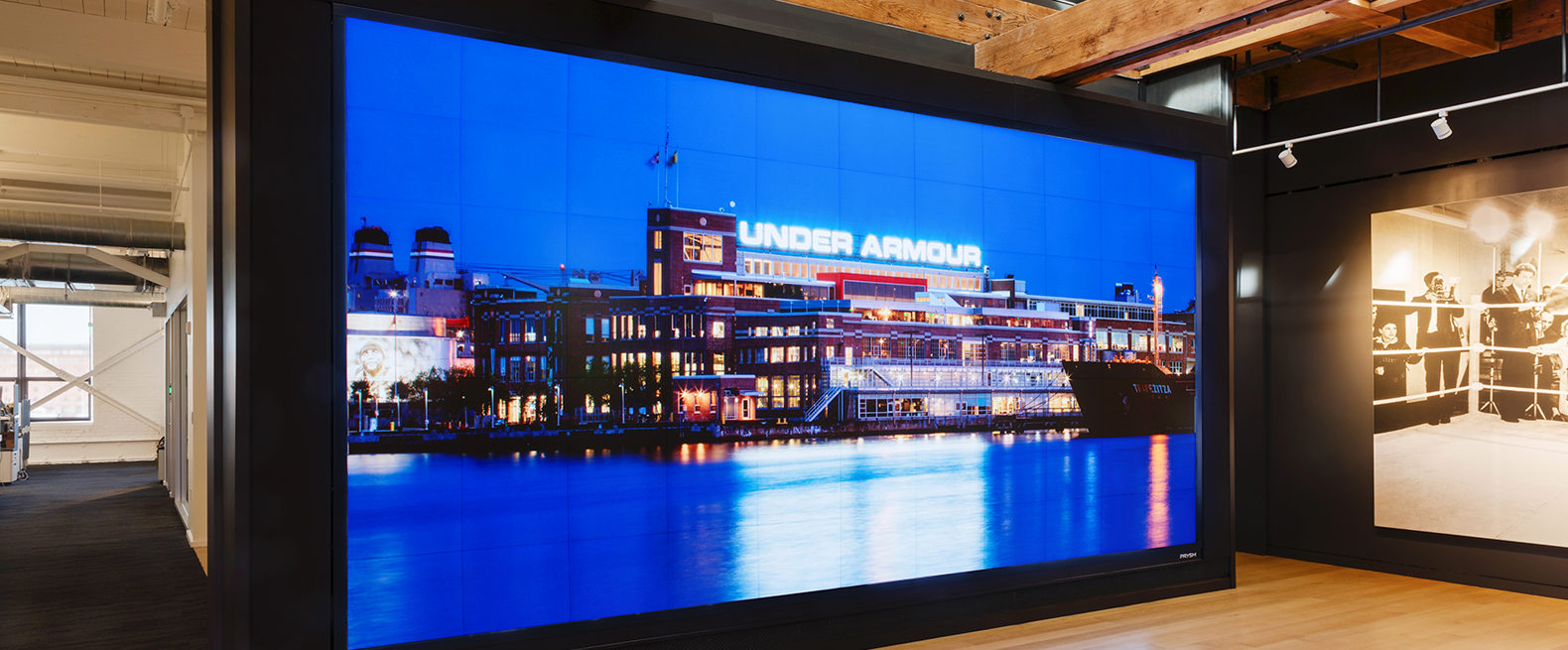 Prysm Video Wall at Under Armour